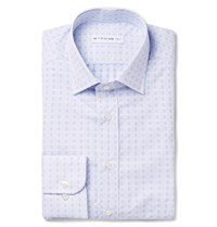 Etro Blue Slim Fit Printed Cotton Poplin Shirt Blue