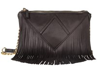 Steve Madden Bporter Fringe Crossbody Black Cross Body Handbags