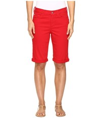 Nydj Briella Roll Cuff Shorts In Sweet Strawberry Sweet Strawberry Women's Shorts Red