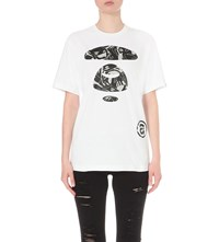 Aape By A Bathing Ape Logo Print Cotton Jersey T Shirt Whx