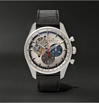 Zenith El Primero Chronomaster 1969 Stainless Steel And Alligator Watch