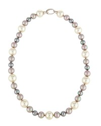 Majorica Mixed Multicolored Pearl Necklace Women's