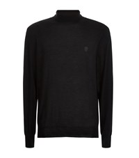 Alexander Mcqueen Roll Neck Cashmere Sweater Male Black