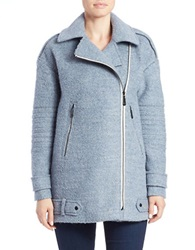 Vince Camuto Asymmetrical Pea Coat Dusty Blue