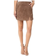 Blank Nyc Camel Suede Mini Skirt In Midnight Toker Camel Beige Women's Skirt Brown