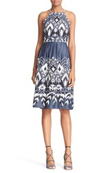 Parker Women's 'Alana' Embroidered Cotton Fit And Flare Dress