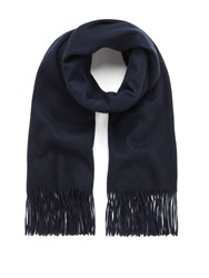 Mulberry Classic Cashmere Scarf Navy