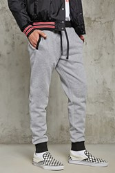 Forever 21 Contrast Trim Knit Joggers