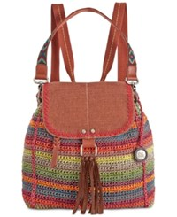 The Sak Avalon Crochet Backpack Gypsy Stripe