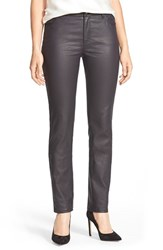 Women's Lafayette 148 New York Waxed Denim Slim Leg Jeans Ink