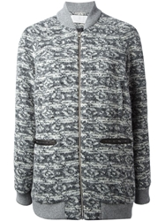 Thakoon Addition Patterned Knit Jacket Grey