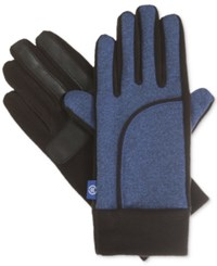 Isotoner Signature Sport St Heathered Gloves Blue Spark