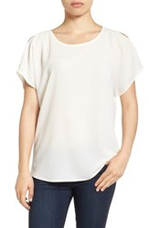 Gibson Women's Cold Shoulder Blouse Ivory