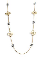 Catherine Malandrino Enlightenment Accented Necklace Gold Silver