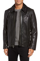 Andrew Marc New York Men's Outpost Leather Shirt Collar Jacket
