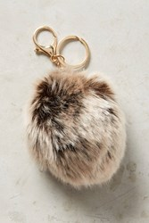 Anthropologie Fur Pom Keychain Grey