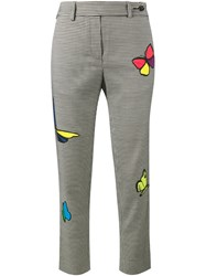Mira Mikati Butterfly Houndstooth Trousers Black