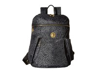Baggallini Gold Capetown Backpack Pewter Floral Backpack Bags Black