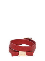 See By Chloe See By Chloe Bow Wrap Around Leather Bracelet