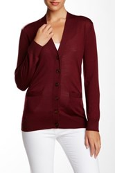 Marc By Marc Jacobs Superfine Merino Wool Cardigan Red