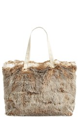 Nordstrom At Home Cuddle Up Faux Fur Tote