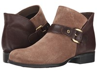 Naturalizer Jarrett Truffle Taupe Suede Brown Leather Women's Boots