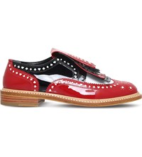 Robert Clergerie X Disney Royal Patent Leather Moccasins Red Other