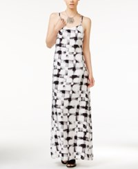 Armani Exchange Printed Sleeveless Maxi Dress Soft Black