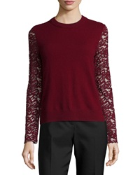 Tory Burch Crochet Lace Peplum Sweater