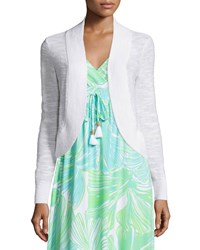 Lilly Pulitzer Mae Cropped Cardigan Resort White