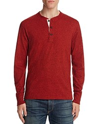 Rag And Bone Standard Issue Raglan Henley Fiery Red