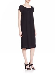Wilt Solid Peasant Dress Black