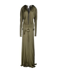 Pierre Balmain Dresses Long Dresses Women Dark Green