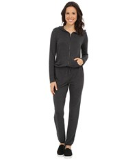 Culture Phit Kacey French Terry Hooded Jumper Charcoal Women's Jumpsuit And Rompers One Piece Gray
