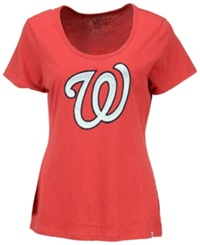 '47 Brand Women's Washington Nationals Relaxed Knockout T Shirt Red