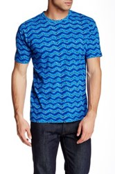 Marc By Marc Jacobs Boxy Fit Printed Tee Blue