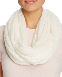 Bloomingdale's C By Cashmere Solid Loop Scarf Ivory