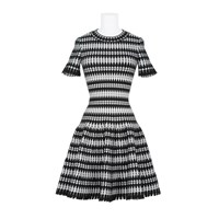 Alaia Dress Black White