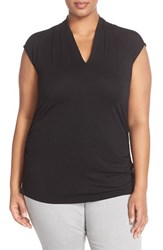 Vince Camuto Plus Size Women's Pleated V Neck Sleeveless Top