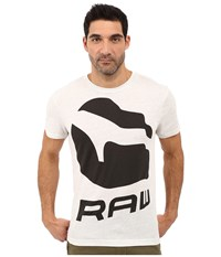 G Star Forceq Short Sleeve Tee In Ny Jersey White Heather Men's T Shirt