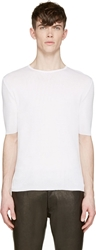 Cnc Costume National Off White Stretch Knit T Shirt