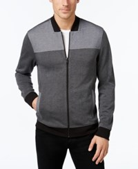 Alfani Men's Big And Tall Colorblocked Full Zip Jacket Only At Macy's New Grey