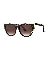 Thierry Lasry Butterscotchy Cat Eye Sunglasses Tortoise Green