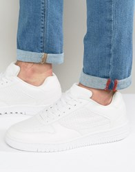 Pull And Bear Pullandbear Faux Leather Trainers In White White
