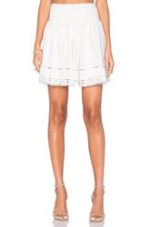 Rebecca Taylor Gauze Ruched Skirt White