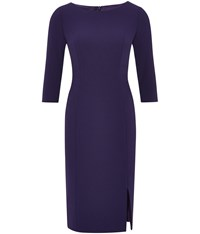Austin Reed Purple Crepe Dress