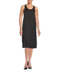 Lord And Taylor Linen Tank Dress Black
