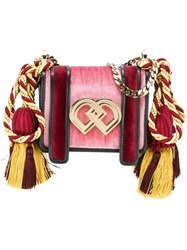 Dsquared2 Small 'Dd' Crossbody Bag Pink And Purple