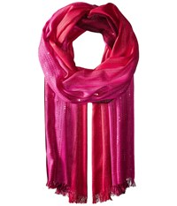 Echo Ombre Sequin Wrap Ruby Scarves Red