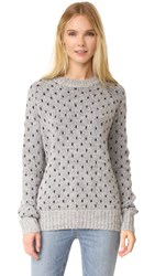 The Great Crew Sweater Navy Polka Dot On Grey
